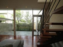 Garden House (居間から庭を見る)