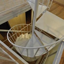 スケルトン・インフィルの家 (螺旋階段)