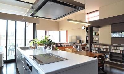 大きな空間の家 (キッチン)