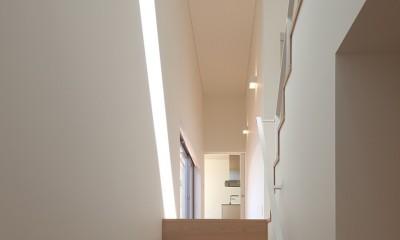 STEP HOUSE (玄関から階段を見る)