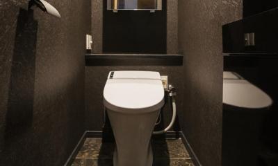 フロアごとに異なる顔を持つ遊び心満載の住まい (トイレ)