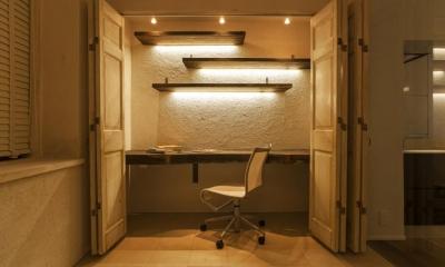 書斎|シンプル、シャビー、モロッコ調、部屋ごとに表情が変わるマンション