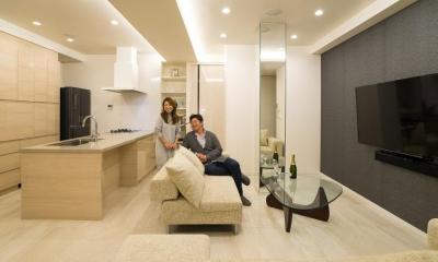 開放感あふれるイタリアンモダンの空間に生まれ変わったヴィンテージマンション