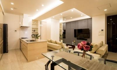 リビングダイニングキッチン|開放感あふれるイタリアンモダンの空間に生まれ変わったヴィンテージマンション