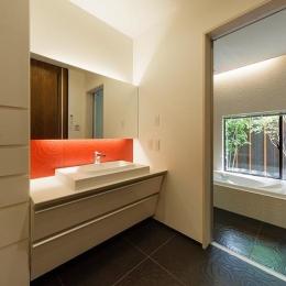 高級感溢れる洗面スペース