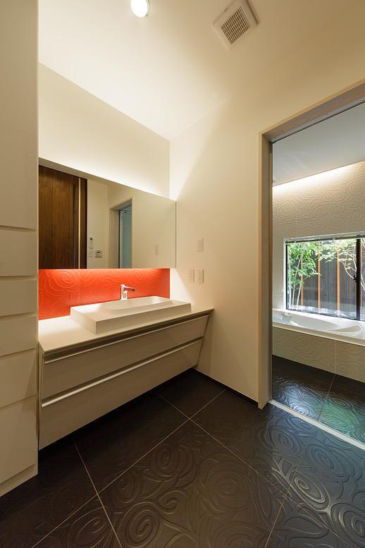 CAT HOUSE (猫と暮らす家)の部屋 高級感溢れる洗面スペース