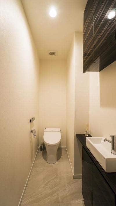 トイレ (開放感あふれるイタリアンモダンの空間に生まれ変わったヴィンテージマンション)