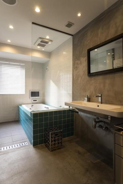 サニタリー・バスルーム (ヨーロピアンとオリエンタル、モダンが融合した、高級感あるラウンジのような空間)