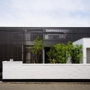 CAT HOUSE (猫と暮らす家)の写真 黒い格子を使用した和モダン住宅