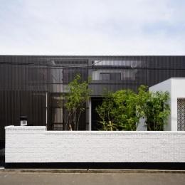 CAT HOUSE (猫と暮らす家) (黒い格子を使用した和モダン住宅)