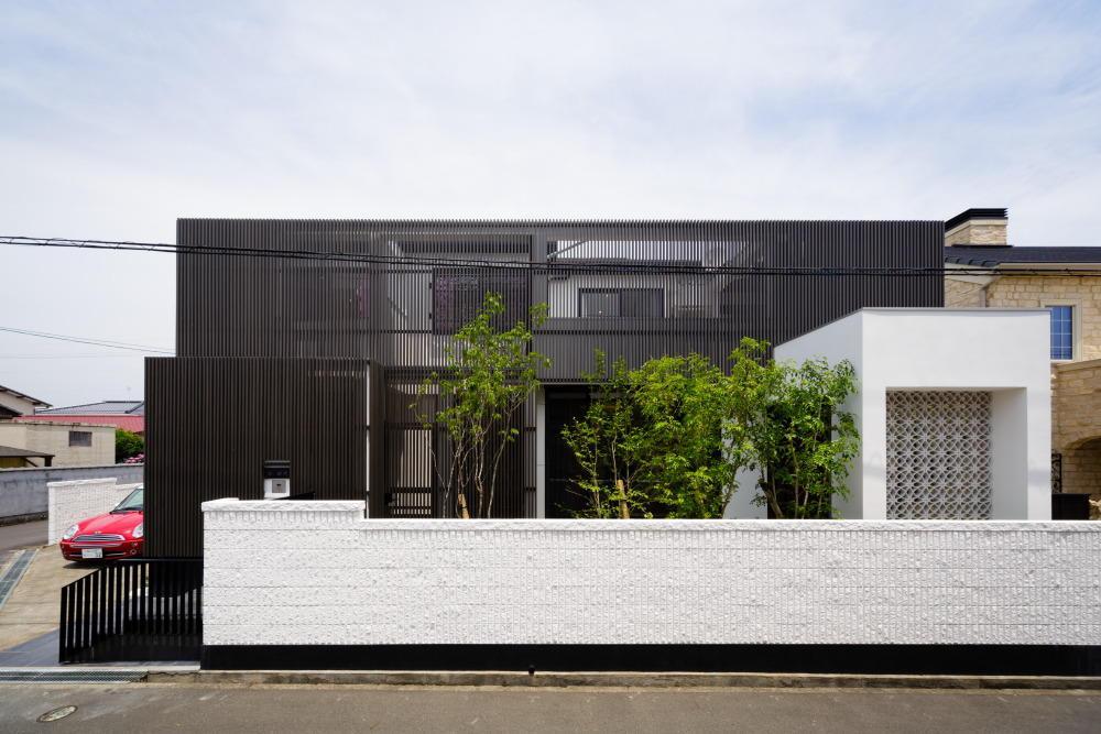 CAT HOUSE (猫と暮らす家)の部屋 黒い格子を使用した和モダン住宅