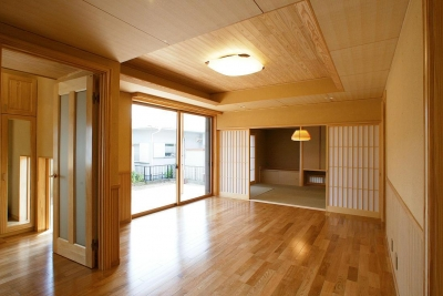 邑久町の家 (明るい日差しのあるリビング)