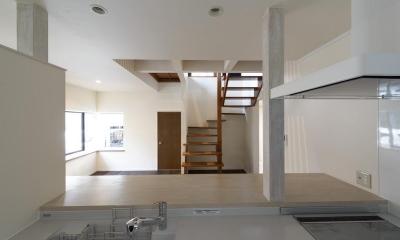 オープンキッチン|リフォーム・リノベーション(中古住宅を夫婦2人の住まいへ)