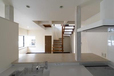 リフォーム・リノベーション(中古住宅を夫婦2人の住まいへ) (オープンキッチン)