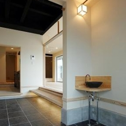 玄関にある手洗いスペース