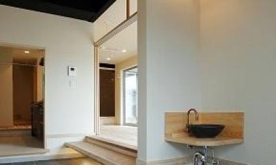 どまどまハウス (玄関にある手洗いスペース)