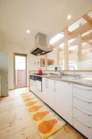 ほくほく北欧の部屋 広々としたキッチン