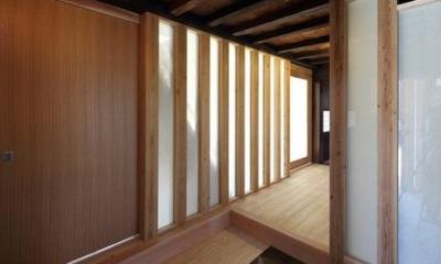 上がり框のある玄関|翡翠の家
