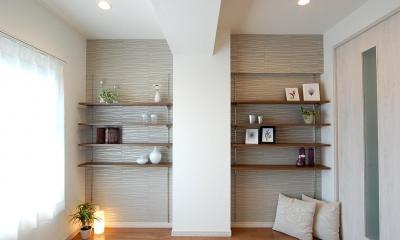 デザイン棚が魅力的なお部屋
