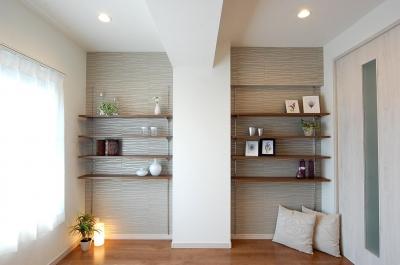 洋室 (デザイン棚が魅力的なお部屋)