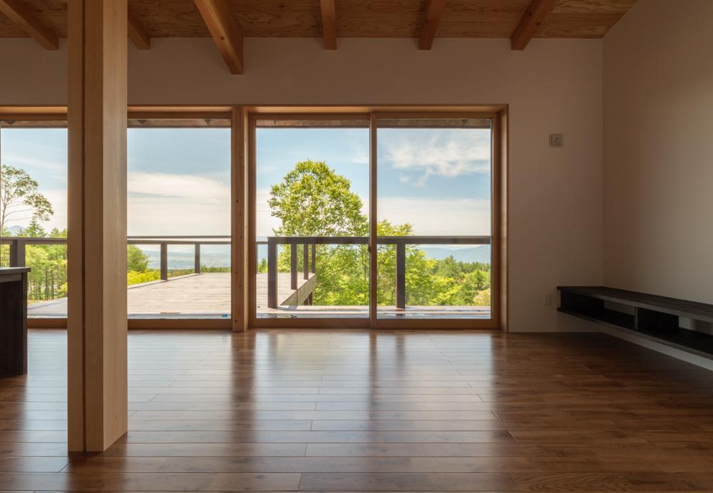 霧ヶ峰の家の写真 開放的な空間