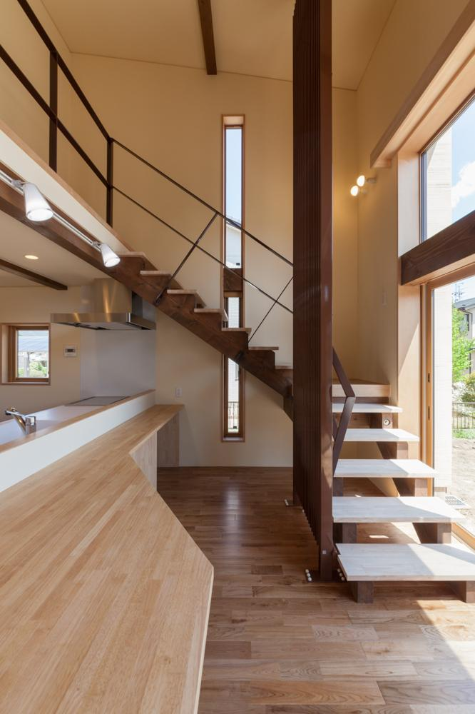 宮田の家の部屋 オープン型階段